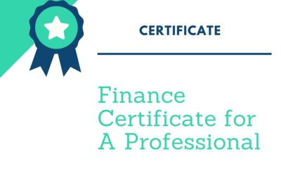 Finance Certificate for A Professional – Should Know
